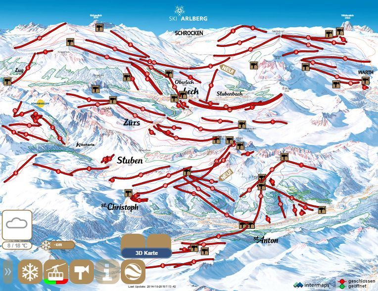Lech Zurs Am Arlberg Sipalyak Ausztria Kek Piros Fekete